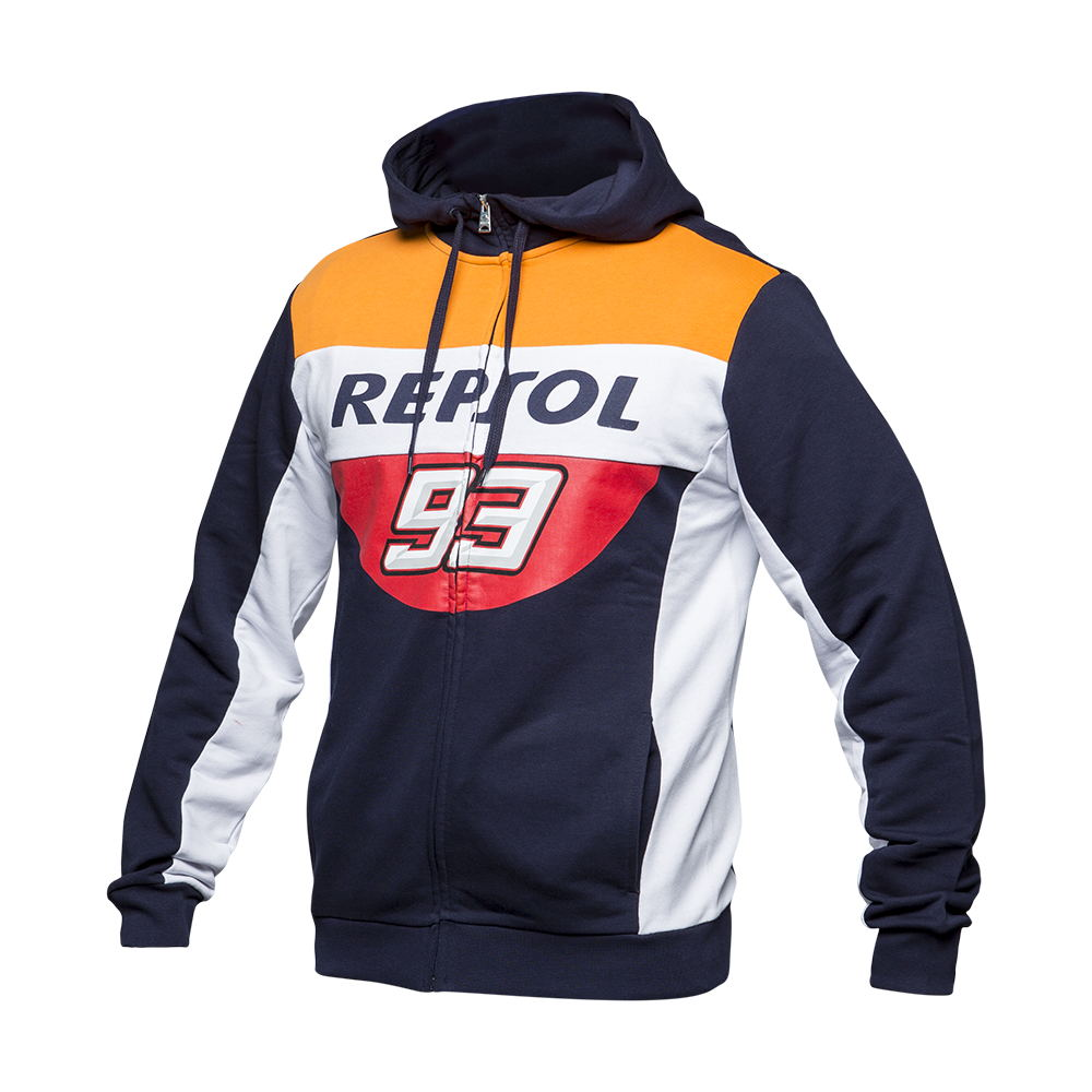 New 100% Cotton Marquez 93 MM93 Repsol Zip Hoodie Moto GP For honda Motorcycle Racing Sports Crew Fleece Sweatshirt цена 2017