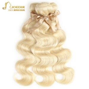 Image 2 - 613 Honey Blonde bundles with closure Brazilian Body Wave Human Hair Weave Bundles With Closure Lace Closure With Bundles Joedir