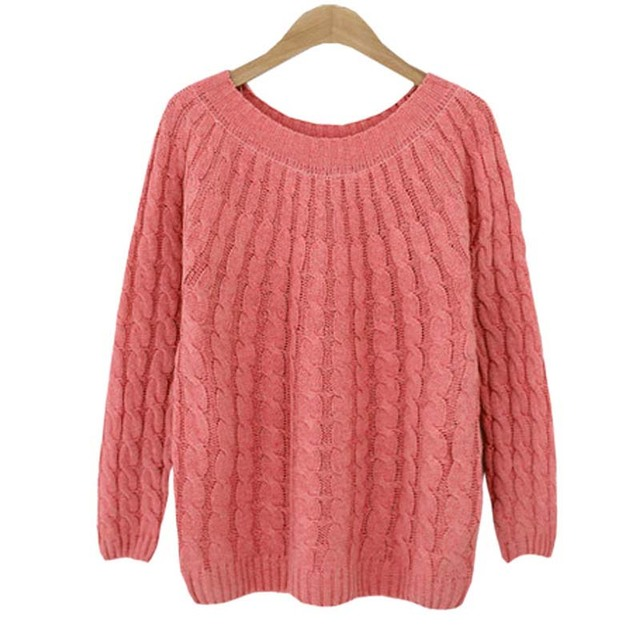 2017 Fashion Winter Sweater Women Pullover Loose Female Sweater Pullover Women Long Sleeve Crocheted Knitted Sweater
