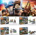 The Hobbit 4 pcs/lot SY206 Plastic Figures For Child Learning&Education Building Block Toy
