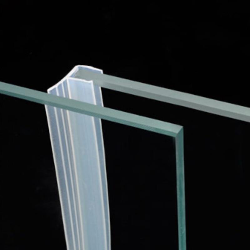 Draught Excluder Weatherstrip Draft Stopper Sealing Strip 10mm Glass Frameless Screen Shower Room Door Window Balcony Seals 1m F