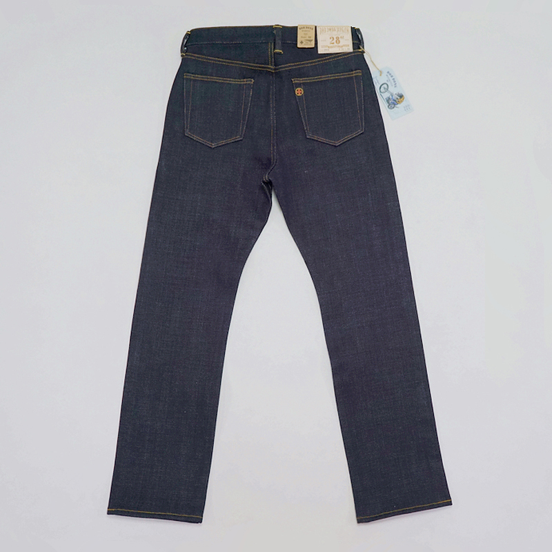 BOB DONG 28oz Selvedge Denim Jeans For Men Heavyweight Slim Fit Straight