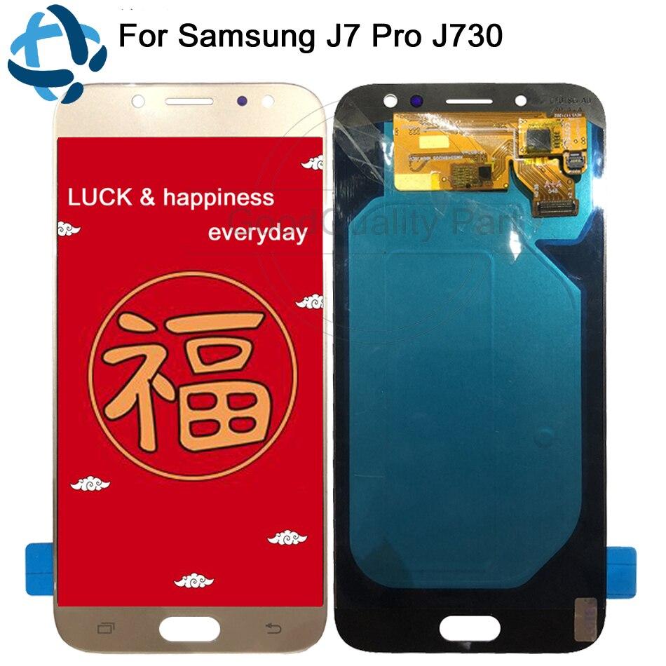 AMOLED pour SAMSUNG Galaxy J7 Pro 2017 écran tactile LCD J730 J730F pour SAMSUNG J7 Pro remplacement de l'assemblage LCD
