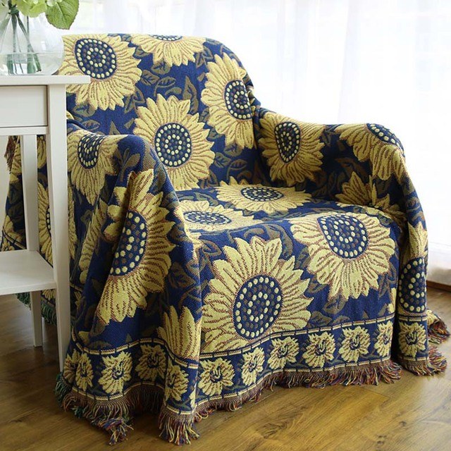 1pcs Flower Nap Travel Tassel Blanket Sofa Bed Sleeping Cobertor Chair Decorative  Throw Blanket Home Decoration