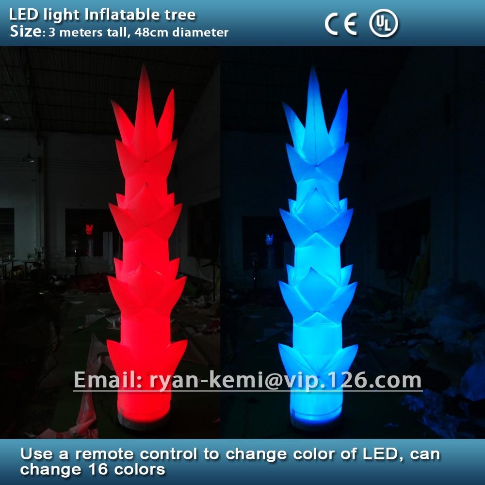 Partidul de decorare cu LED-uri Lumina gonflabil cu LED-uri de iluminat Gonflabile de bambus trage decorative de flori stâlp gonflabile