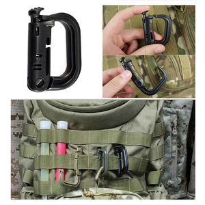 Attach Plasctic Shackle Carabiner D-ring Clip Molle Webbing Backpack Buckle Snap Lock Grimlock Camp Hike Mountain climb Outdoor
