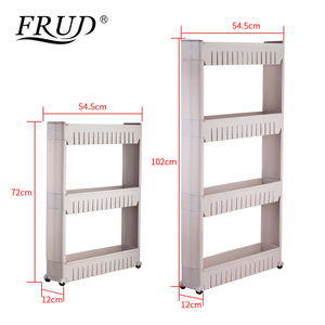 Image 5 - FRUD Multi layer Refrigerator Side Shelf Multipurpose Shelf with Removable Wheels Crack Rack Bathroom Storage Storage Rack Shelf