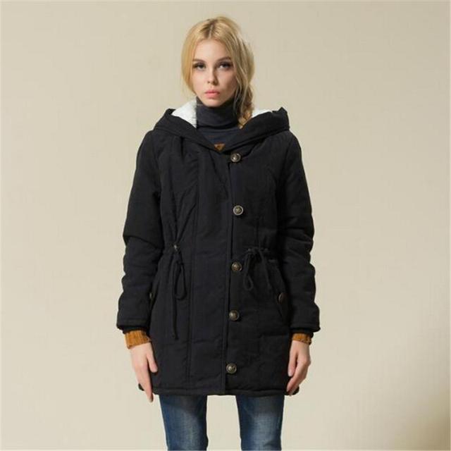 Plus Size Mulheres Casacos de Inverno de Algodão Acolchoado Feminino Versão Longa Seção Casaco de Caxemira Casacos de Inverno Parka