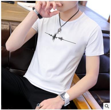 2018 New Hop T Shirt Mens Black White T-shirts Summer Skateboard Tee Boy Hip hop Skate Tshirt Tops ZXF-06