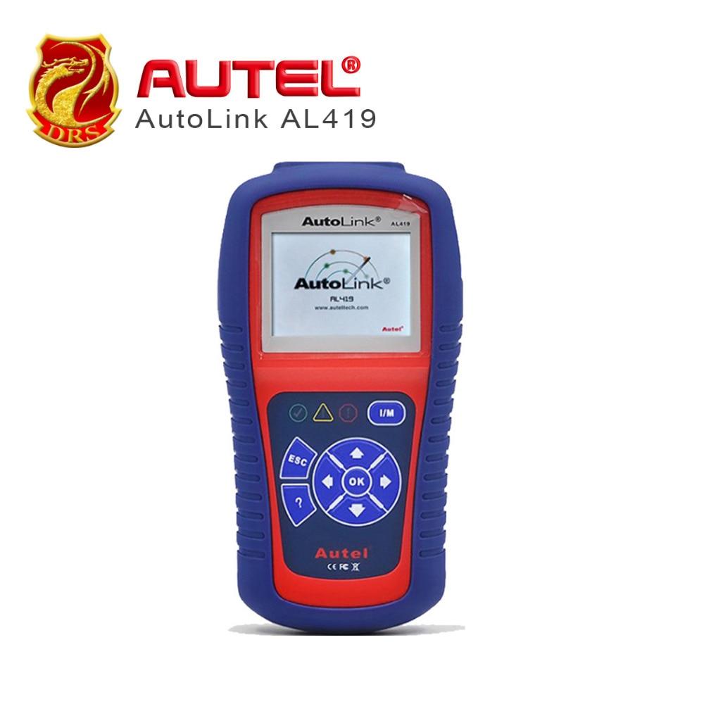 цена на [Authorized Distributor] Auto diagnostic Code Reader Autel AutoLink AL419 Auto Retrieves vehicle information (VIN, CIN CVN)