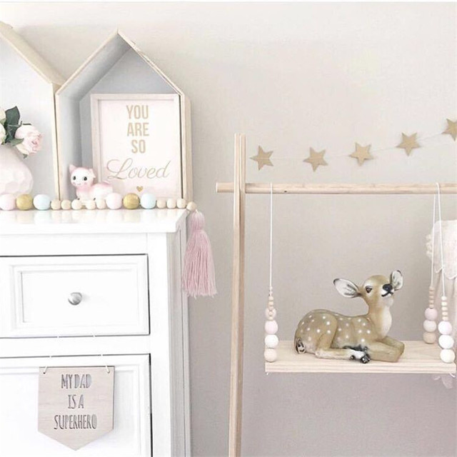 2017 ins kids baby nordic style wall hanging decorative wooden rh aliexpress com nordic style baby clothes scandi style baby