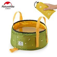 купить NatureHike 10L/16L Outdoor Travel Portable Folding Water Bag Camping Hiking Picnic Water Bucket Washbasin Washing Bag NH18L010-P дешево