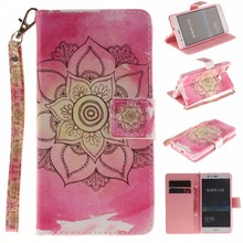 Lovely Painted Lanyard Premium Pu Leather Wallet Flip Case For Huawei P9 Lite Brand Mobile Phone Cases For Huawei P 9 Lite 5.0""