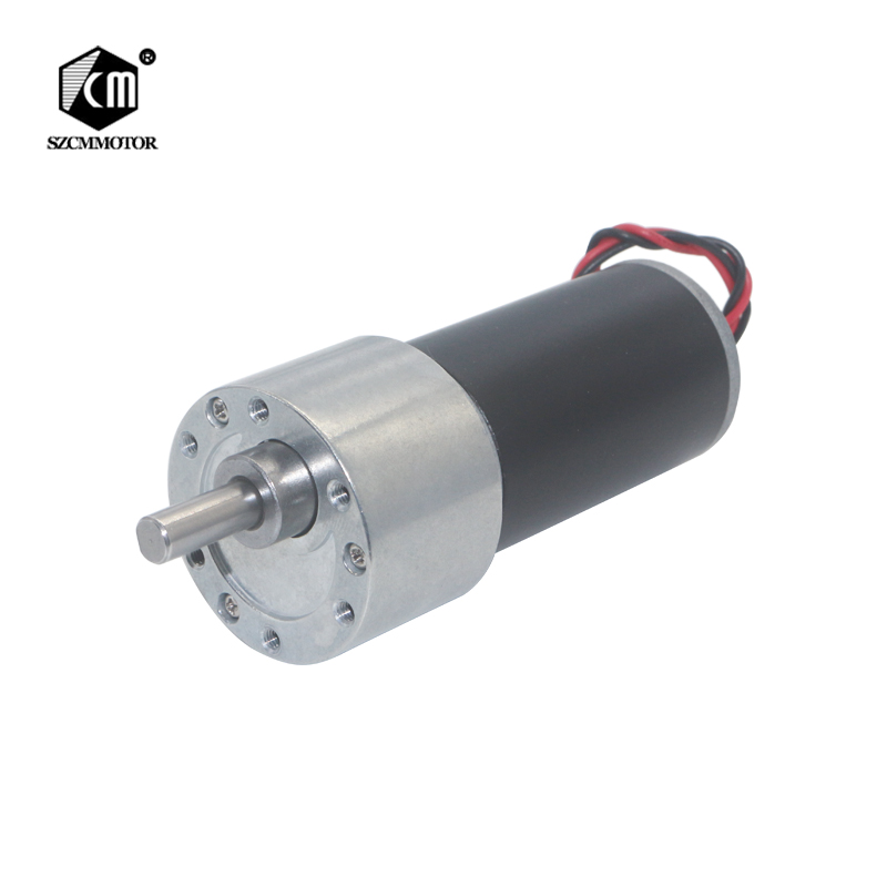 DC12V 24V Large Torque Metal Tubular Gearbox Reduction Gear Motor 35kg cm gearmotor eccentric geared motor