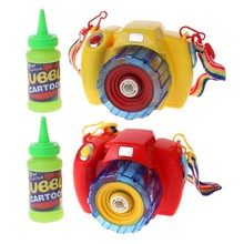 Electric Bubble Blower Blowing Toy Camera With Light Music For Children Kid Gift(China)