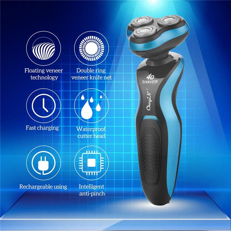 Electric Shaver for Men 4d Floating Triple Blade Face Hair Shaving Machine Cordless Beard Trimmer Razor 3 in 1 Hair Clipper 35