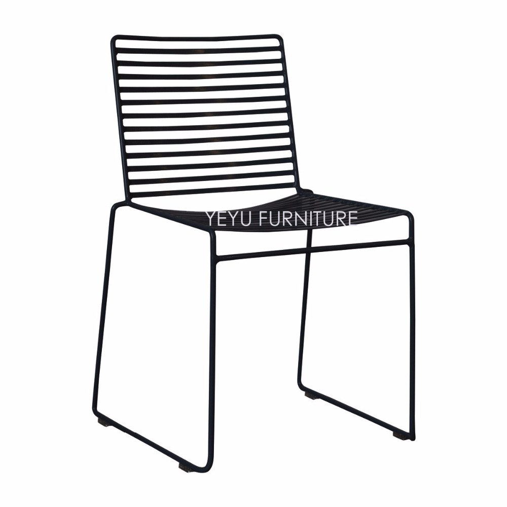 Outdoor cafe chair - Studio Wire Hee Chair Modern Classic Metal Outdoor Chair Stackable Harry Bertoia Steel Cafe Side Chair