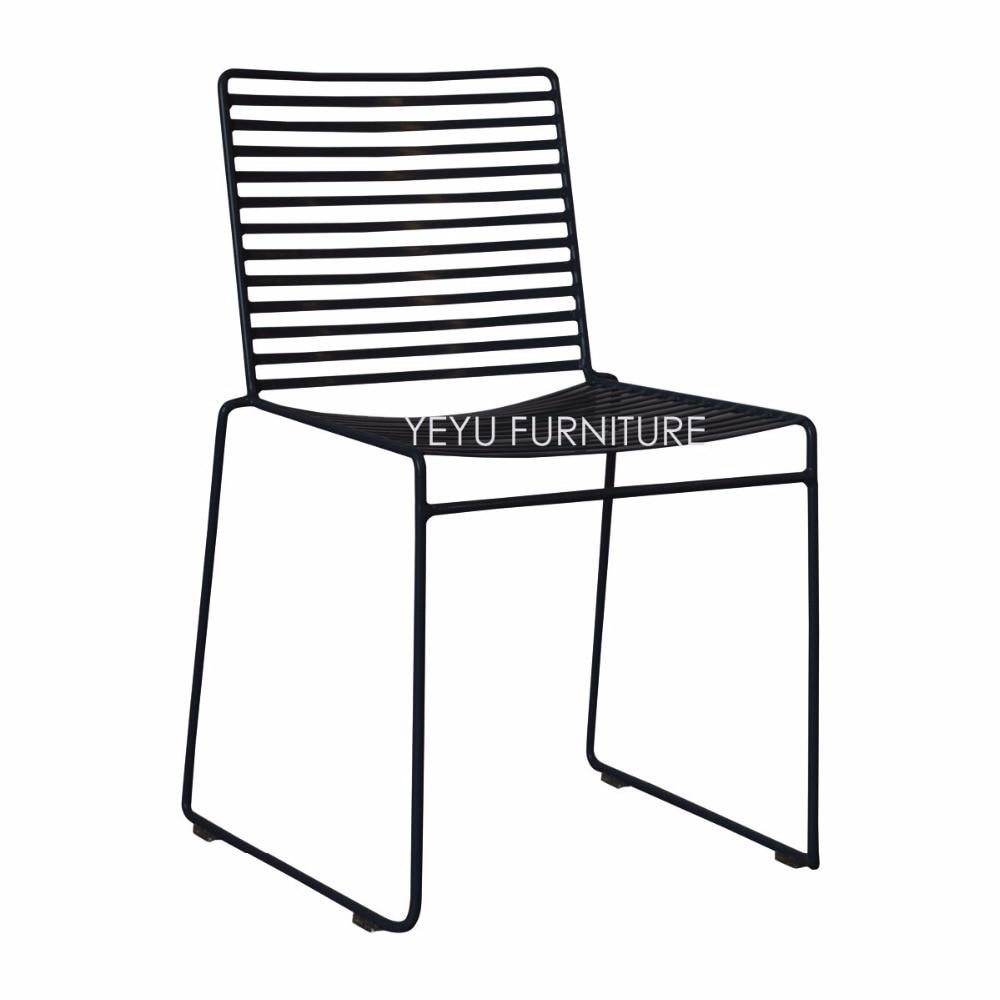 Metal outdoor stacking chairs - Studio Wire Hee Chair Modern Classic Metal Outdoor Chair Stackable Harry Bertoia Steel Cafe Side Chair