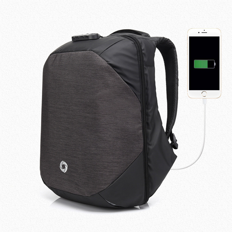 TOP POWER Men Backpack USB Charge 15.6 Inch Laptop Computer New Anti-theft Password Lock Bag School Backpack For Male Mochila