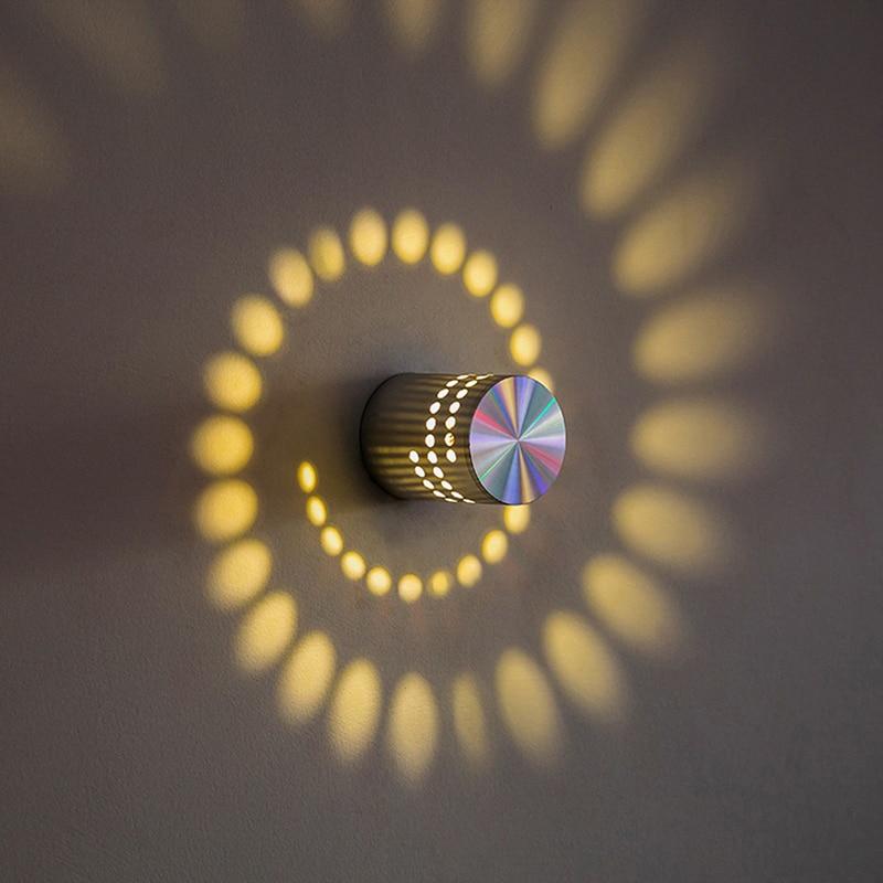 Creative LED Wall Light Spiral Light KTV Bar Corridor Aisle Light Hotel Special Aluminum Shell 2018(China)