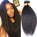 Mongol del pelo recto teje 3 unids lote grueso Yaki virgen del pelo extensiones Rosa Queen Hair Products pelo virginal mongol