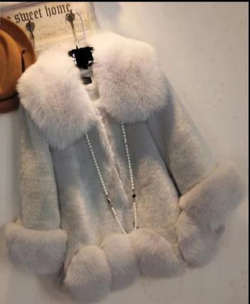 Chaud Nouveau Furry D'hiver Faux Veste Femme Manteau Outwear Artificielle Femmes Taille 2018 Z71 De Plus Fourrure La 66SwrRqn