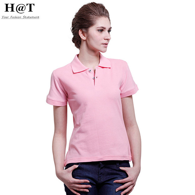Smoves New S-L Womens girls Summer Classic Turn Down Collar Short Sleeve Solid Polo Shirt Camisa Polo Women Tops New GT68