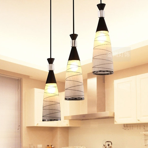 1/3 heads lamps Pendant Lights stylish minimalist meal restaurant bar lighting dining room lamp hanging wire glass dining zzp restaurant cafe meal of lamps and lanterns hanging lamp is acted the role of single head 3 lemon meal hanging lamp