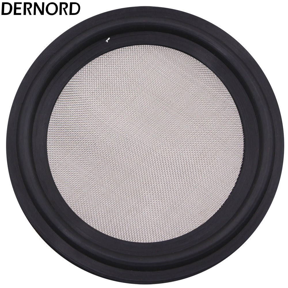 DERNORD 2 (51mm) OD64 Viton, FPM Seal Strip, Stainless Steel 304, 100 Mesh Sanitary Gasket 11 2 tri clamp viton screen mesh gaskets 150 mesh 100 micron without smell