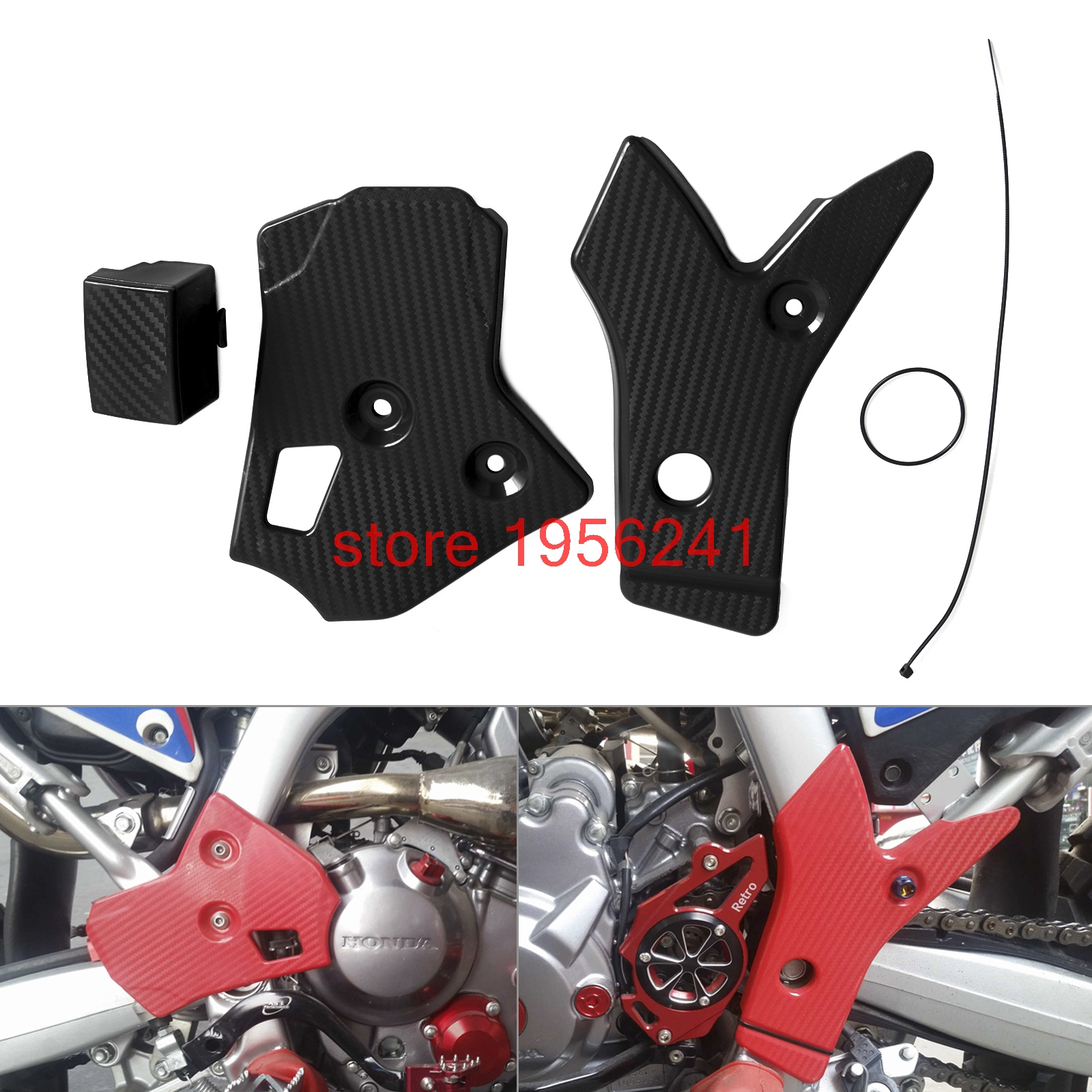 Motorcycle Frame Protector Cover Guard For Honda CRF250L CRF250M 2012 - 2015 2013 2014 Dirt Bike CRF250 L/M motorcycle radiator grill grille guard screen cover protector tank water black for bmw f800r 2009 2010 2011 2012 2013 2014