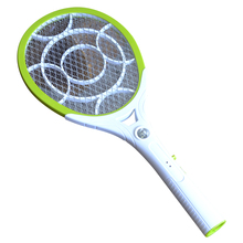 Round Plug Rechargeable Electric Mosquito Swatter Hit Killer Racket Hand Movement Flies Catcher With Lighting Function