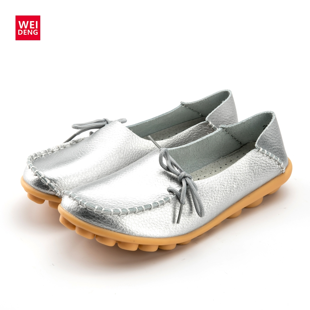 Womens Casual Loafers Slip On Loafers Ballet Flats Boat Driving Single Shoes