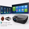 New arrival GP70UP  micro projector with android 4.4 1200luminous 800*480 mini LED projector for home cinema