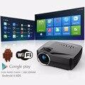 Nova chegada GP70UP micro projetor com android 4.4 1200 luminosa 800*480 mini LED projetor para cinema em casa