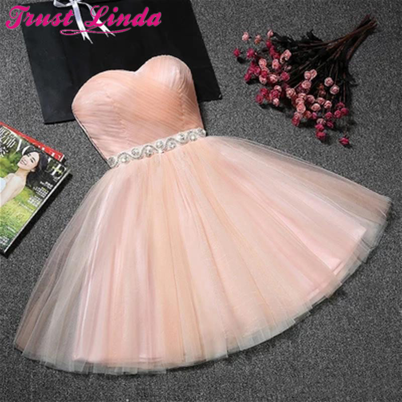 Pink Cheap Mini Bridesmaid Dresses Sexy Short Tight Homecoming Dresses 2018 Short Grade Prom Dresses Vestido de Festa Curto