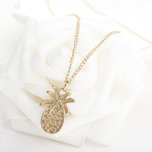 1 Pcs Delicate Pineapple Pendant Necklace Charm Gold Color Beauty Rose Jewelry Necklace For Women Girls tiny skull necklace dainty layering delicate charm gold rose gold or silver plated mini skull pendant