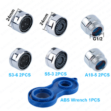 Bathroom Accessories Brass Faucet Aerator Kits Water saving Shower flow Regulator Device 5L per min With ABS Wrench