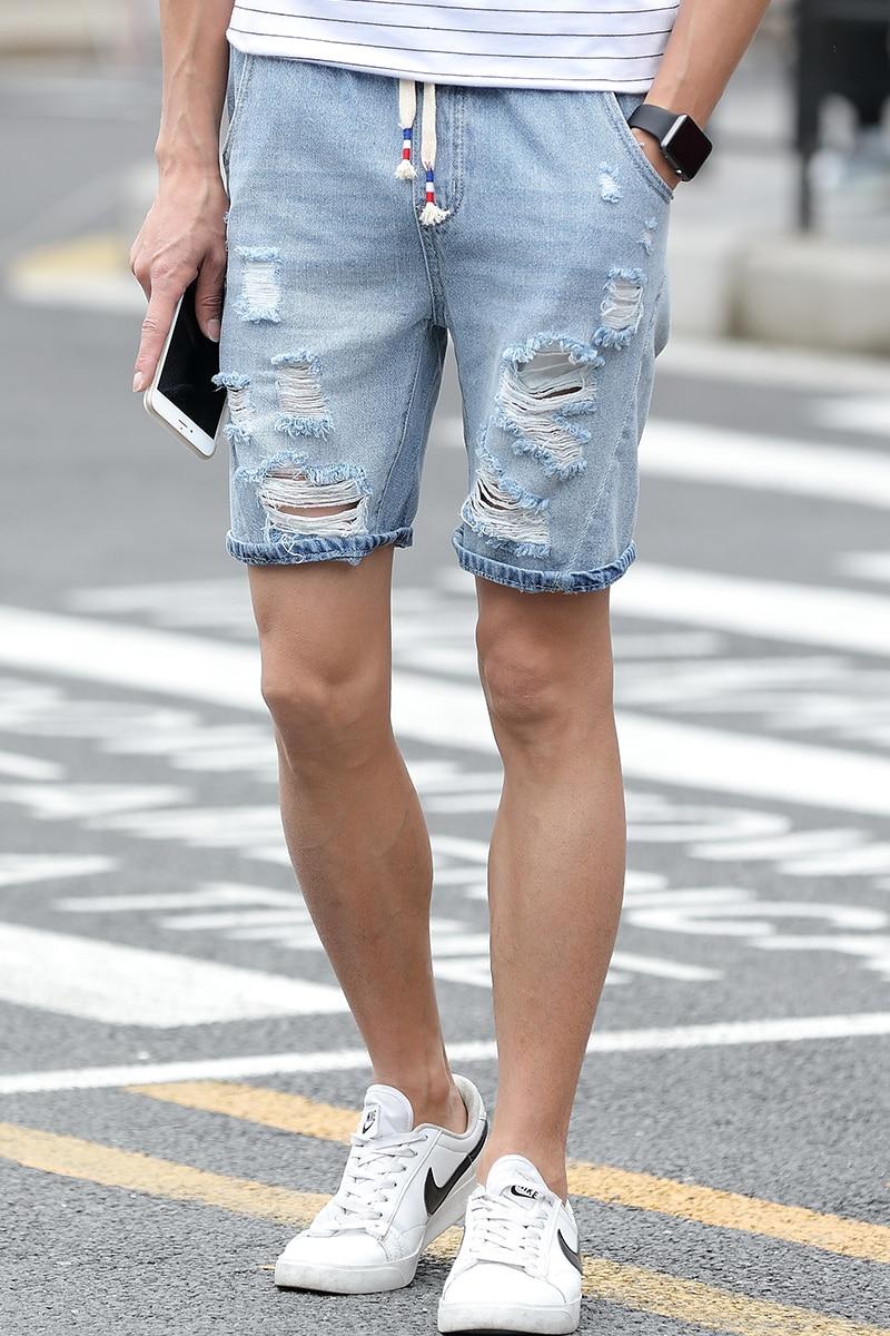 Weiße Fit Herren Shorts Jeans Slim Mode 2016 Sommer OXiPkTwZul