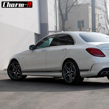 2 шт. глянцевая/матовая/5D черный AMG издание C63 507 сбоку нашивки наклейки Наклейки для Mercedes Benz C класс W204