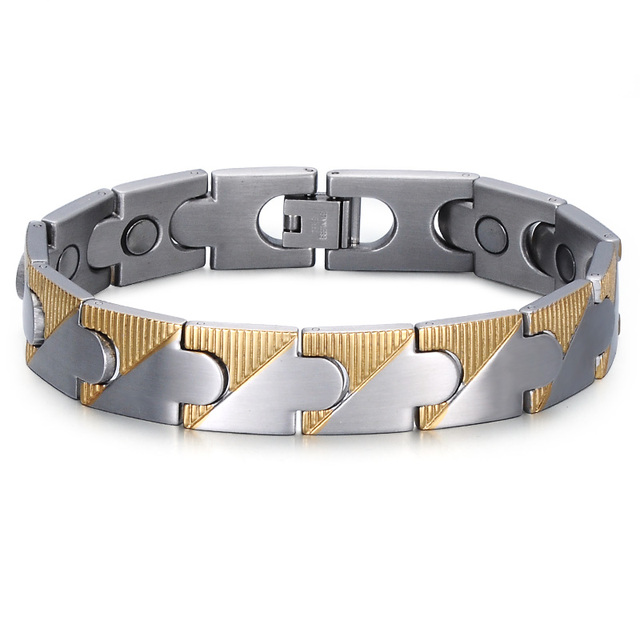 Hip Health Fir Magnetic Bracelet Stainless Steel Negative Ion For Men Jewelry Blood Pressure Accessory