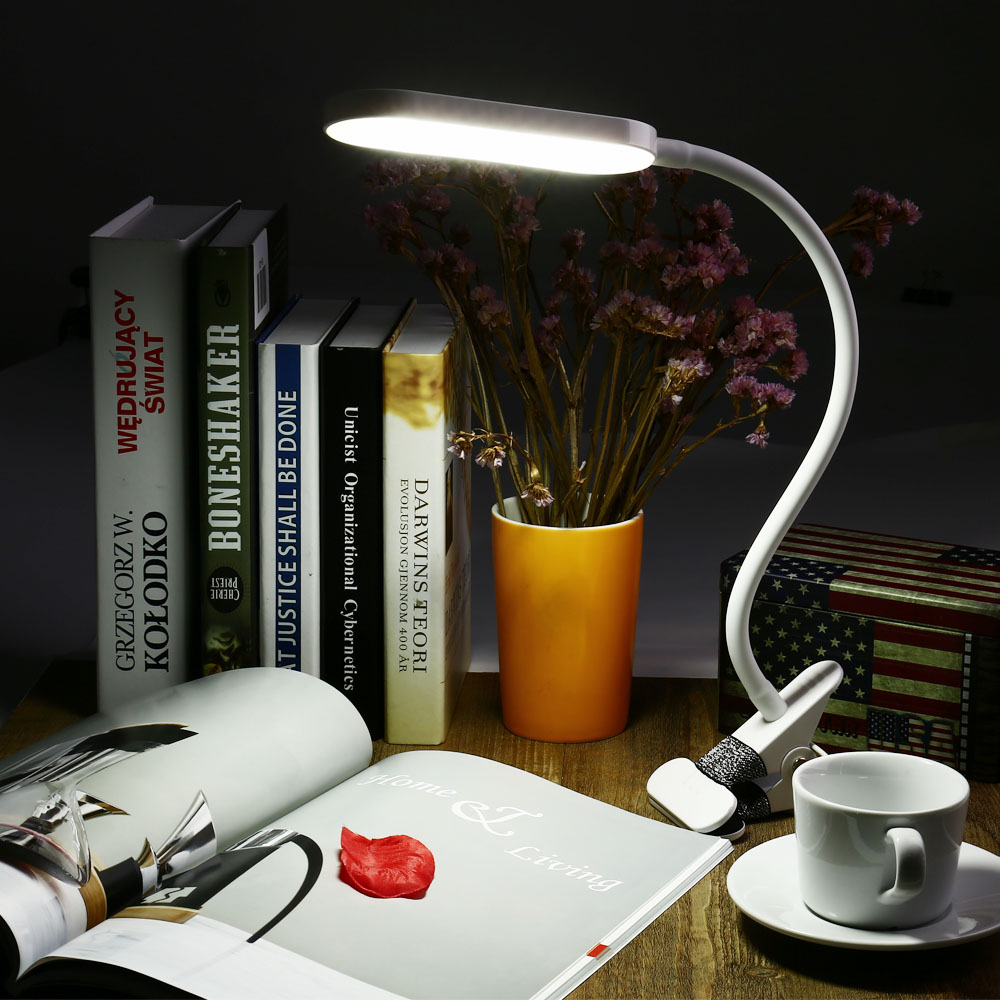 New Adjustable Eye Protection USB LED Clip Lamp LED Flexible Table Light Dimmable LED Desk Light with Touch Sensor Reading Lamp