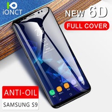 Ionct 6D Tempered Glass for Samsung Galaxy S8 S9 Plus Note 8 Screen Protector for Samsung S6 S7 Edge Protective Glass film 9H(China)