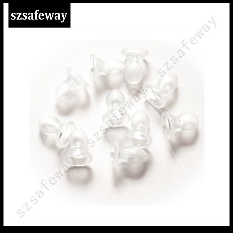 100pcs/lot Clear Silicone Ear Tips Earbud For Covert Tube Earphone For Kenwood Acoustic Tube Headset Free Shipping