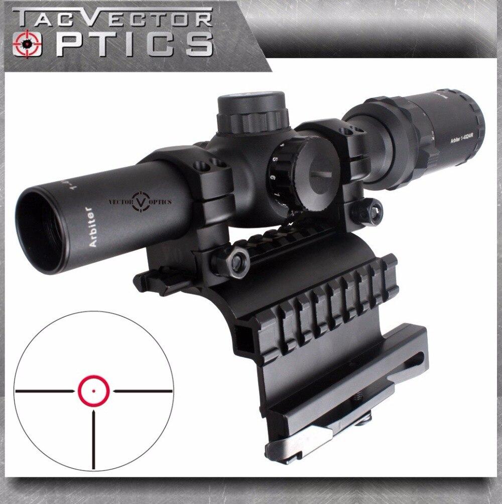 Vector Optics AK47 AK74 1 4x24 Compact Tactical 30mm Riflescope Scope with AK 47 74 QD