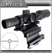 Vector Optics AK47 AK74 1-4×24 Compact Tactique 30mm Lunette De Visée Portée avec AK 47 74 QD Side Rail Mount fit Armes À Feu Réelles 2 EN 1