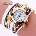 Duoya Brand Women Bracelet Watch Fashion Luxury Gold Beads Braided Quartz Wrist Watch Ladies Vintage Watch Gift Dropshipping