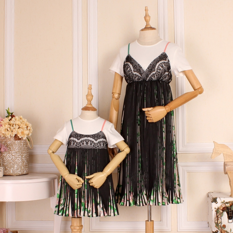 Mother & Kids Family Clothing Mom and Daughter Dress Mommy and Me Clothes Mother Daughter Matching Dress Like Mom Tassel Set