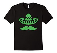 Quality Print New Summer Style Cotton o-neck men's mexican hat mustache casual short-sleeved t-shirt
