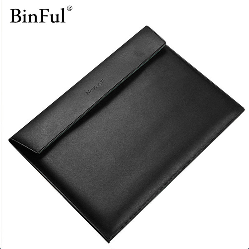 BinFul Newest Fashion Waterproof PU Leather Sleeve Case For Macbook Air 11 12 13.3  Retina 13.3 15.4 , Laptop Bag Pouch ...