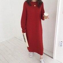 Women S Winter Long Sleeve Long Sweater Dress Female Pullove